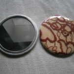 miroir de poche avec dentelle de Caudry
